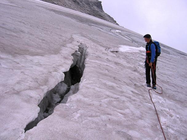 Foto: Andreas Koller / Wander Tour / Kombinierte Tour auf die Granatspitze (3086 m) / Spalten am Sonnblickkes / 17.08.2007 13:02:31