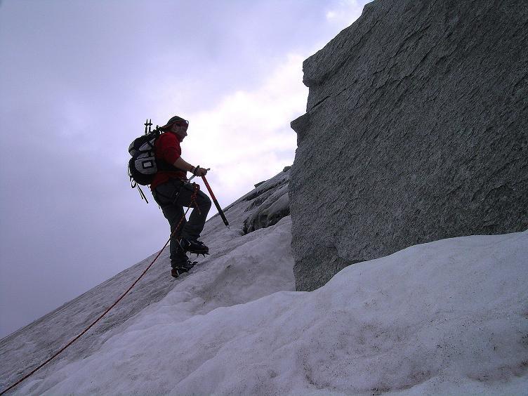 Foto: Andreas Koller / Wander Tour / Kombinierte Tour auf die Granatspitze (3086 m) / Steile Passage unterhalb der Granatspitze / 17.08.2007 13:01:19
