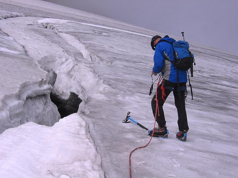Foto: Andreas Koller / Wander Tour / Kombinierte Tour auf die Granatspitze (3086 m) / An mächtigen Spalten vorbei / 17.08.2007 12:58:53