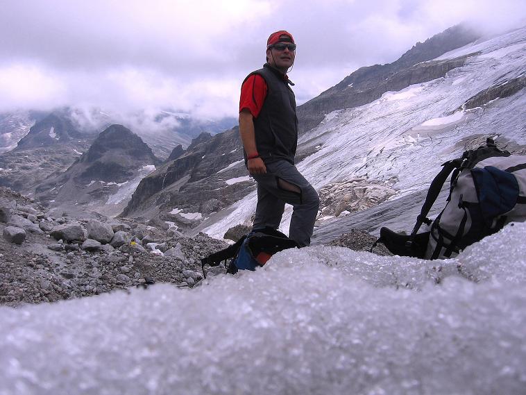 Foto: Andreas Koller / Wander Tour / Kombinierte Tour auf die Granatspitze (3086 m) / Die letzten Meter am Sonnblickkees / 17.08.2007 12:57:03