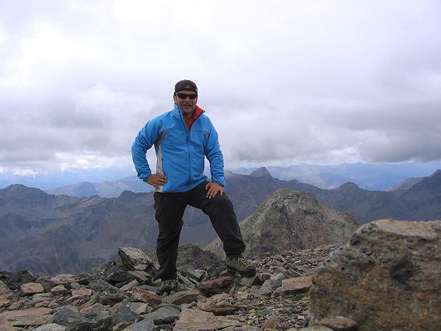 Foto: Andreas Koller / Wander Tour / Von Osttirol nach Kärnten auf den Kruckelkopf (3181 m)  / Am Gipfel des Kruckelkopfes / 18.08.2007 13:16:20