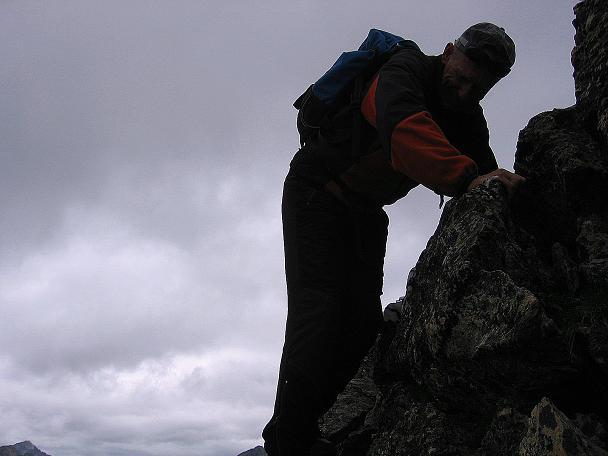 Foto: Andreas Koller / Wander Tour / Von Osttirol nach Kärnten auf den Kruckelkopf (3181 m)  / Am SW-Grat des Kruckelkopfes / 18.08.2007 13:14:47