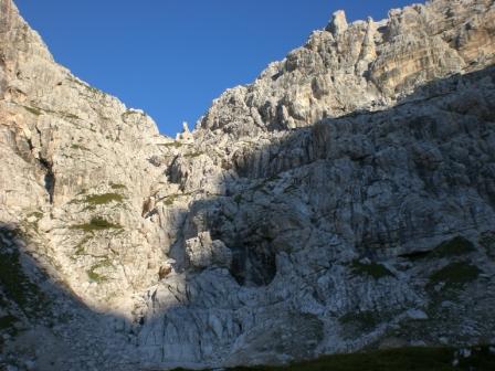 Foto: dobratsch11 / Klettersteig Tour / Über die Mosesscharte auf den Wischberg (Jòf Fuart) / Die Mosesscharte / 20.08.2007 21:21:59