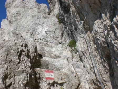 Foto: dobratsch11 / Klettersteig Tour / Über die Mosesscharte auf den Wischberg (Jòf Fuart) / Der Einstieg / 20.08.2007 21:21:32