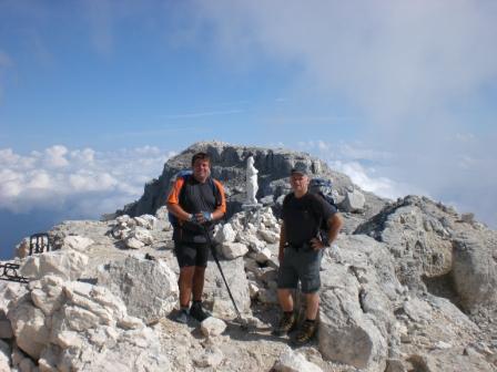Foto: dobratsch11 / Klettersteig Tour / Über die Mosesscharte auf den Wischberg (Jòf Fuart) / am Gipfel des Wischbergs / 20.08.2007 21:20:27