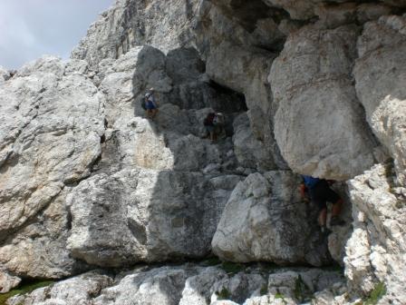 Foto: dobratsch11 / Klettersteig Tour / Über die Mosesscharte auf den Wischberg (Jòf Fuart) / der Normalweg hinunter zur Corsi Hütte / 20.08.2007 21:20:13