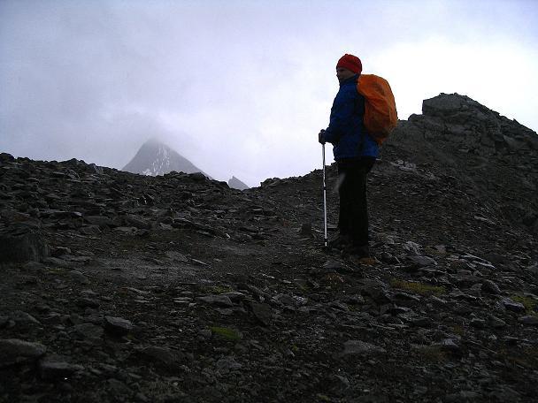 Foto: Andreas Koller / Wander Tour / Spritztour über Obergurgl auf den Festkogel (3038 m) / Zwischen den beiden Gipfeln des Festkogel mit Granatenkogel (3318 m) im Hintergrund / 30.08.2007 00:12:44