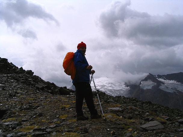 Foto: Andreas Koller / Wander Tour / Spritztour über Obergurgl auf den Festkogel (3038 m) / Rast im Banne des Wasserfallferners / 30.08.2007 00:10:20