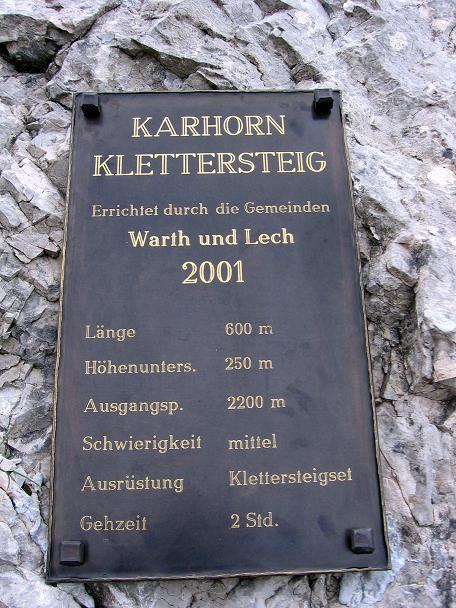 Foto: Andreas Koller / Klettersteig Tour / Karhorn - Klettersteig (2416 m) / Einstieg in den Klettersteig / 30.08.2007 02:41:40