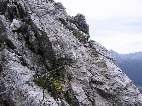 Foto: Andreas Koller / Klettersteig Tour / Karhorn - Klettersteig (2416 m) / Gut versicherte Querungen / 30.08.2007 02:39:39