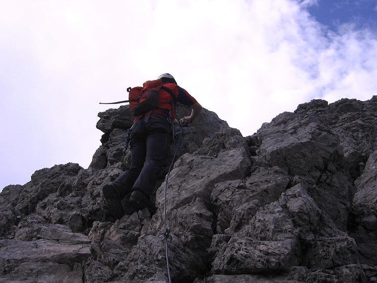 Foto: Andreas Koller / Klettersteig Tour / Karhorn - Klettersteig (2416 m) / Steiler Felsaufschwung / 30.08.2007 02:38:48