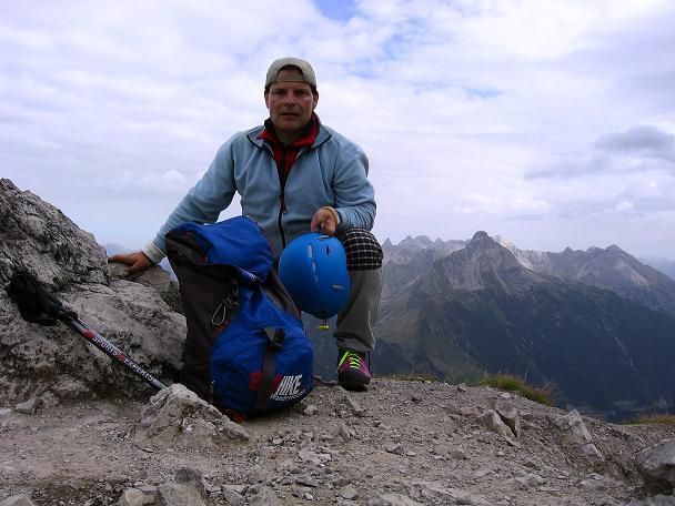 Foto: Andreas Koller / Klettersteig Tour / Karhorn - Klettersteig (2416 m) / Am Karhorn-Gipfel / 30.08.2007 02:35:58