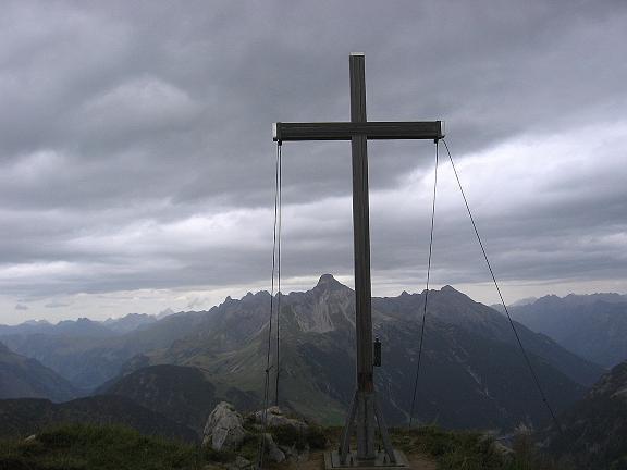 Foto: Andreas Koller / Klettersteig Tour / Karhorn - Klettersteig (2416 m) / Gipfelkreuz am Warther Horn / 30.08.2007 02:32:51