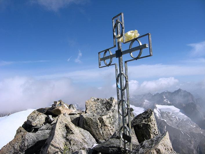 Foto: Andreas Koller / Wander Tour / Dammastock (3630m) - Hauptgipfel der Urner Alpen / Dammastock - Gipfelkreuz / 30.08.2007 04:50:08