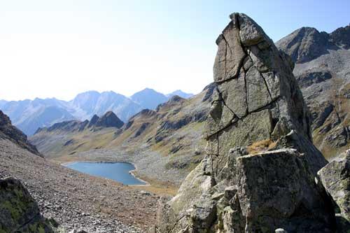 Foto: leitner monika / Wander Tour / Von der Edelrauthütte auf den Weißzint / Eisbruggsee unterhalb der Edelrauthütte / 30.08.2007 19:02:08