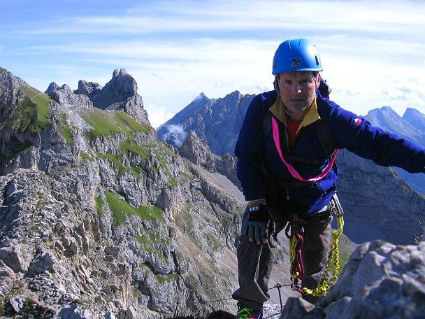 Foto: Andreas Koller / Klettersteig Tour / Karwendel- und Mittenwalder Klettersteig (2384m) / Die letzten Meter auf die Südliche Linderspitze / 31.08.2007 23:14:05