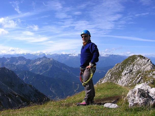 Foto: Andreas Koller / Klettersteig Tour / Karwendel- und Mittenwalder Klettersteig (2384m) / Auf der Südlichen Linderspitze / 31.08.2007 23:12:32