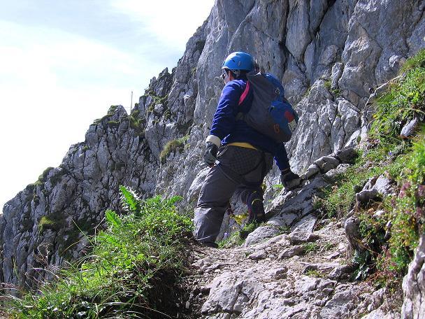 Foto: Andreas Koller / Klettersteig Tour / Karwendel- und Mittenwalder Klettersteig (2384m) / Querung unterhalb der Sulzleklammspitze / 31.08.2007 23:11:16