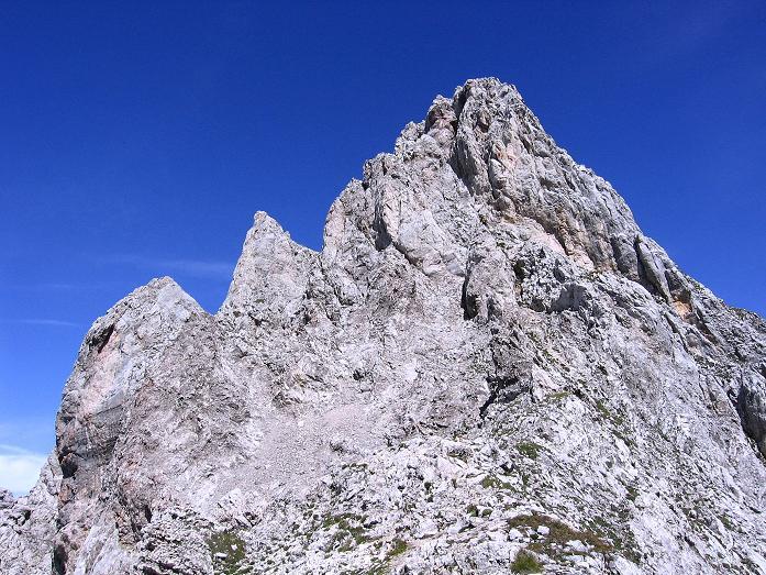 Foto: Andreas Koller / Klettersteig Tour / Karwendel- und Mittenwalder Klettersteig (2384m) / Steiler Abstieg von der Sulzleklammspitze / 31.08.2007 23:10:15