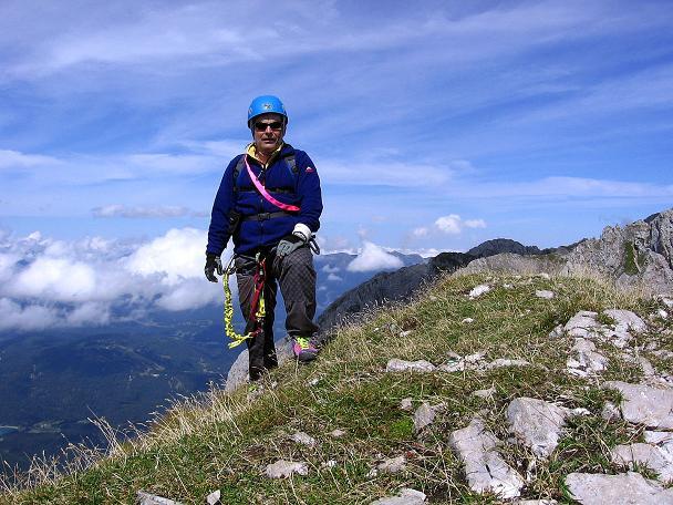 Foto: Andreas Koller / Klettersteig Tour / Karwendel- und Mittenwalder Klettersteig (2384m) / Auf der Sulzleklammspitze / 31.08.2007 23:09:52