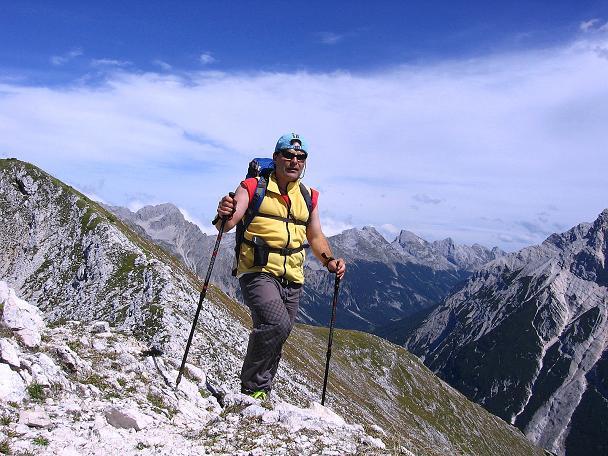 Foto: Andreas Koller / Klettersteig Tour / Karwendel- und Mittenwalder Klettersteig (2384m) / Auf der Brunnensteinspitze / 31.08.2007 23:07:04