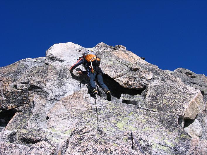 Foto: Andreas Koller / Wander Tour / Über den SO-Sporn auf den Galenstock (3586m) / Kletterei am SO-Sporn / 01.09.2007 13:18:41