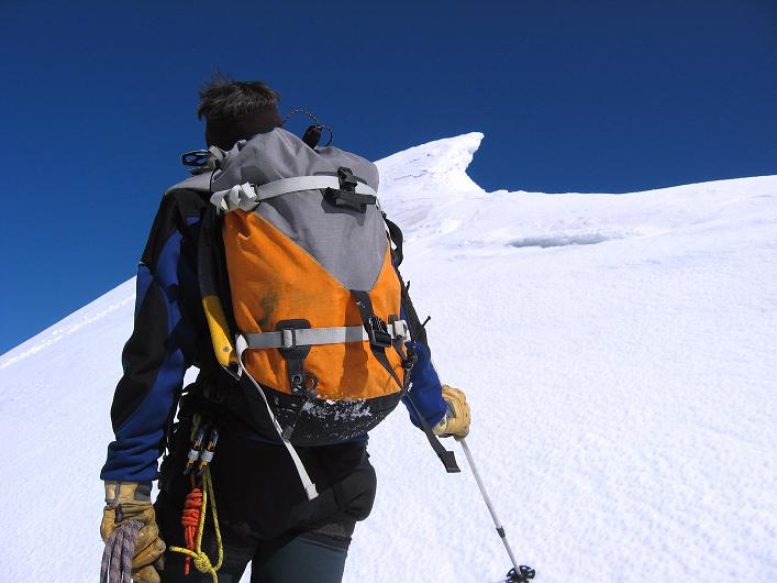 Foto: Andreas Koller / Wander Tour / Über den SO-Sporn auf den Galenstock (3586m) / Aufstieg am S-Grat mit starker Verwächtung nach O / 01.09.2007 13:17:26