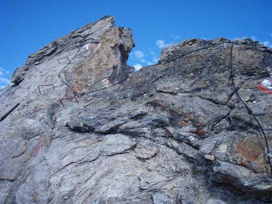 Foto: Grasberger Gerhard / Wander Tour / Über den SO-Grat Klettersteig auf die Kristallwand 3310m / Einstieg SO-Grat Klettersteig / 03.09.2007 13:51:32