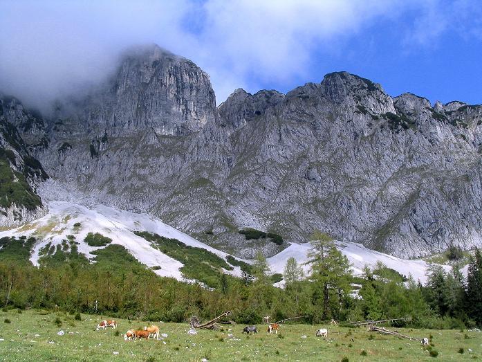 Foto: Andreas Koller / Klettersteig Tour / Wildfrauensteig von der Ardningalm (1992 m) / S-Wände des Bosruck / 03.09.2007 20:12:03