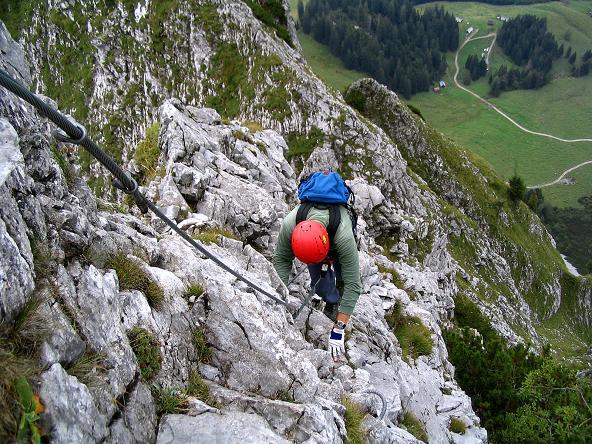 Foto: Andreas Koller / Klettersteig Tour / Wildfrauensteig von der Ardningalm (1992 m) / Ausgesetzt am O-Grat / 03.09.2007 20:09:55