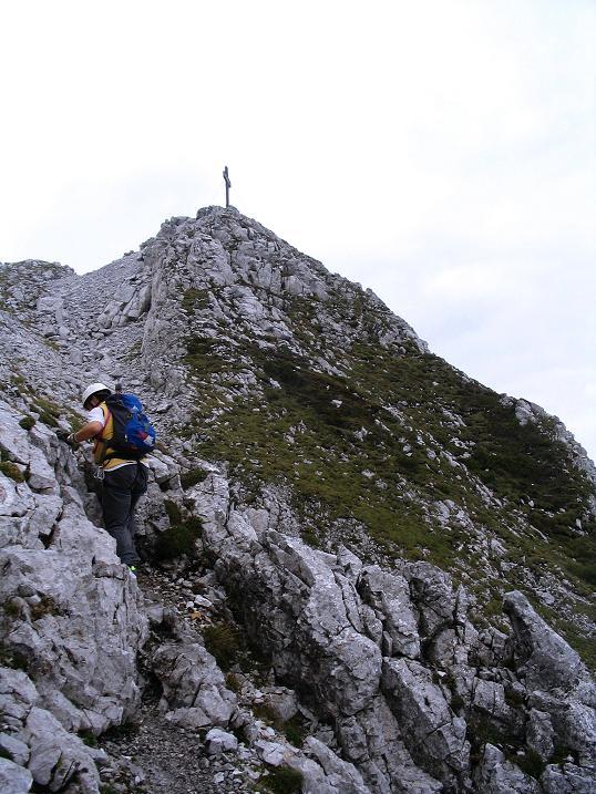 Foto: Andreas Koller / Klettersteig Tour / Wildfrauensteig von der Ardningalm (1992 m) / Kurz unterhalb des Gipfels / 03.09.2007 20:07:02
