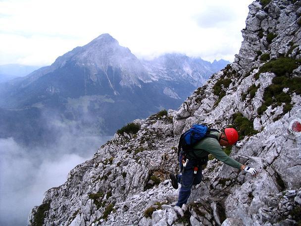 Foto: Andreas Koller / Klettersteig Tour / Wildfrauensteig von der Ardningalm (1992 m) / Leichte Kletterei unterhalb des Gipfels / 03.09.2007 20:06:44