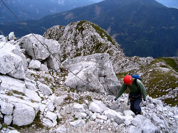 Foto: Andreas Koller / Klettersteig Tour / Wildfrauensteig von der Ardningalm (1992 m) / Die letzten Meter zum Gipfel / 03.09.2007 20:06:25