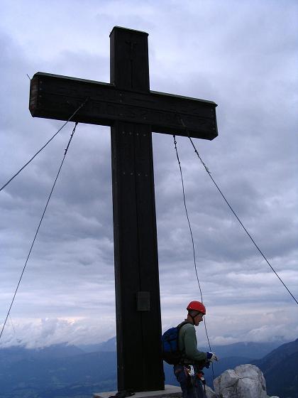 Foto: Andreas Koller / Klettersteig Tour / Wildfrauensteig von der Ardningalm (1992 m) / Bosruck-Gipfelkreuz / 03.09.2007 20:06:10