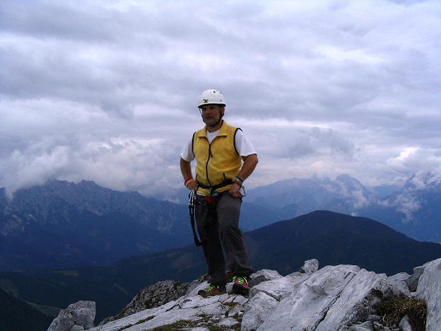 Foto: Andreas Koller / Klettersteig Tour / Wildfrauensteig von der Ardningalm (1992 m) / Am Gipfel des Bosruck / 03.09.2007 20:05:55
