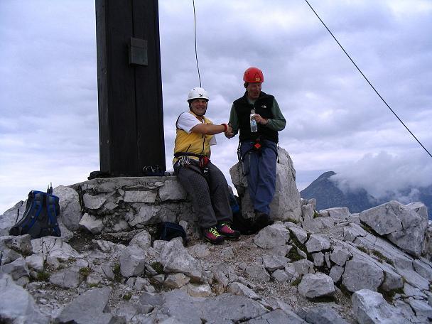 Foto: Andreas Koller / Klettersteig Tour / Wildfrauensteig von der Ardningalm (1992 m) / Am Bosruckgipfel / 03.09.2007 20:05:40