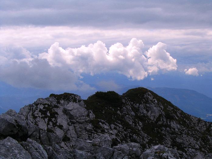 Foto: Andreas Koller / Klettersteig Tour / Wildfrauensteig von der Ardningalm (1992 m) / Blick nach SW zum Kitzstein / 03.09.2007 20:05:27