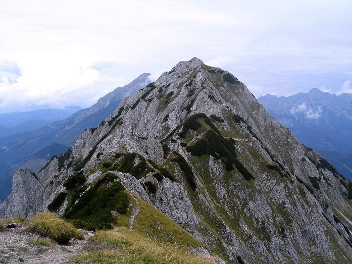 Foto: Andreas Koller / Klettersteig Tour / Wildfrauensteig von der Ardningalm (1992 m) / Blick vom Kitzstein auf den Bosruck / 03.09.2007 20:02:40