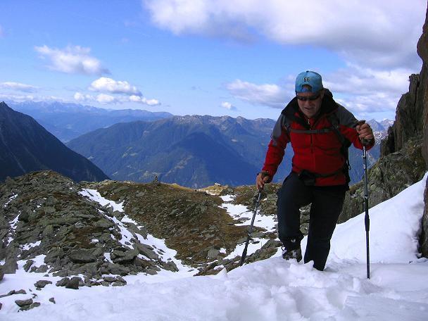 Foto: Andreas Koller / Wander Tour / Großer Moosstock (3061 m) / Schnee kann die Tour anstrengender und gefährlicher machen. / 10.09.2007 03:10:26