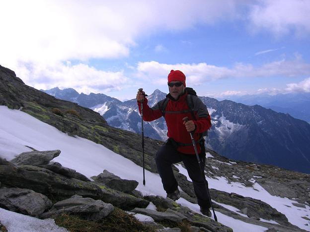 Foto: Andreas Koller / Wander Tour / Großer Moosstock (3061 m) / Im Anstieg zum SW-Grat / 10.09.2007 03:08:40