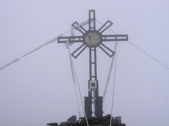Foto: Andreas Koller / Wander Tour / Großer Moosstock (3061 m) / Das Gipfelkreuz am Moosstock / 10.09.2007 03:07:47
