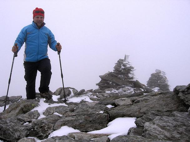 Foto: Andreas Koller / Wander Tour / Großer Moosstock (3061 m) / Der breite Gipfel des Moosstock / 10.09.2007 03:07:06